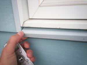 Minnesota Home Inspector finds missing caulk on window